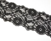 3 inches Width Black Stretch Lace
