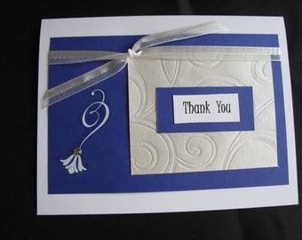 Blue Snowflake Thank You Greeting Card