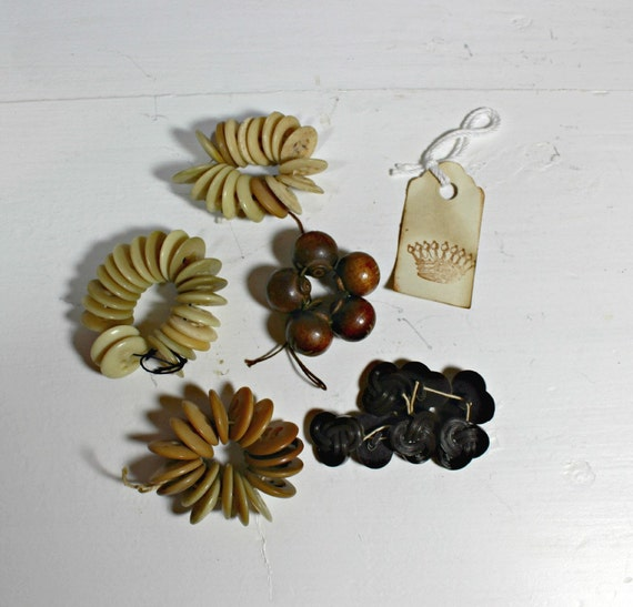 Vintage Buttons, Browns, Tans, 1960s