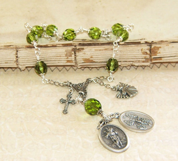 Saint Christopher Chaplet Small Rosary / Catholic Patron Saint of Safe Travel