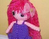 Little girl doll -  Amigurumi - crocheted toy
