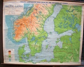 Comparative Map of the Baltic Lands Vintage Wall Map