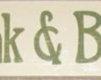 Eat Drink And Be Merry Wooden Sign Plaque Primitive Rustic Cottage Farmhouse Hand Painted Wooden U Pick Colors