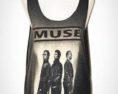 MUSE Black Tank Top Singlet Sleeveless Progressive Alternative Rock T-Shirt Size M