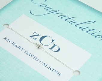 Dainty Baby Boy Birthstone Bracelet for MOM, Personalized Gifts, Monogrammed card with Gift, Baby Shower Gift Ideas, Monogram Baby Gifts