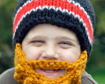 3708ae7a142 Lumberjack childs bearded knit hat toddler kid babymylove jpg 340x270 Lumberjack  knit hat