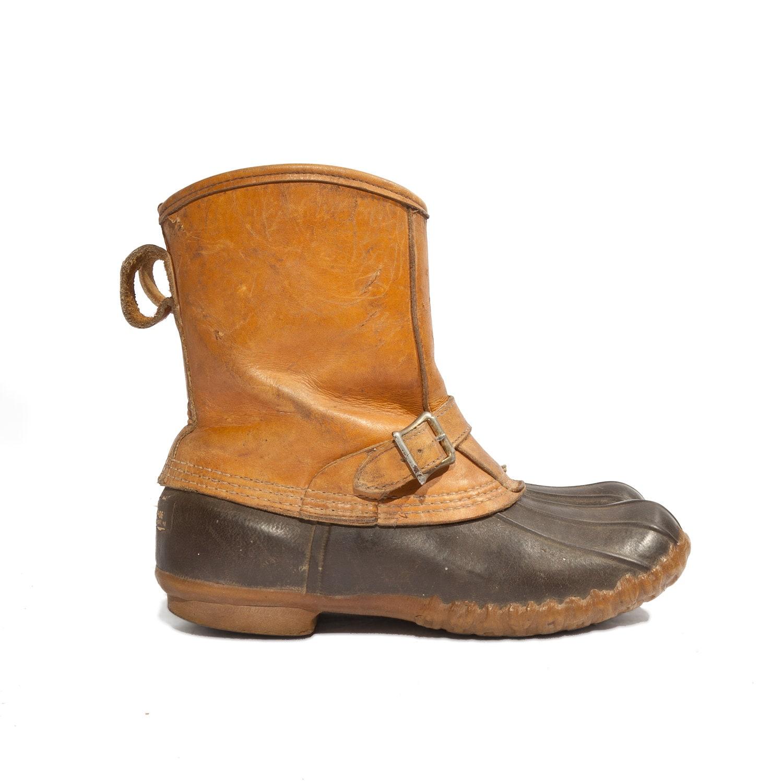 Model Boho Chelsea Boots L L Bean Women Brown Vintage 90s  Size