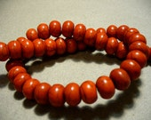 Magnesite Beads Gemstone Red Rondelle 12x8MM