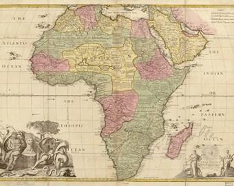 Vintage Map - Africa 1725