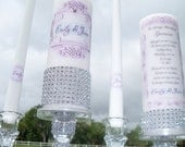 Lilac unity candle and memorial candle....NO HOLDERS INCLUDED