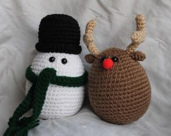 Christmas Eggles - Amigurumi Plush Crochet PATTERN ONLY (PDF)