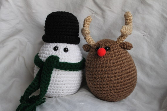 Christmas Eggles - Amigurumi Plush Crochet PATTERN ONLY (PDF)