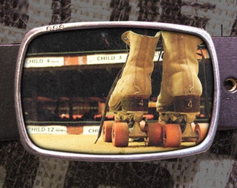 Roller Skates Belt Buckle, Derby Belt Buckle 735