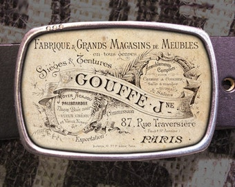 French Advertisment Belt Buckle 736