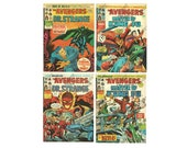 The Avengers Comic Book Lot No's 60 61 66 67 Sequential Marvel Bronze Age 1975
