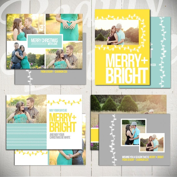Christmas Card Templates: Merry & Bright By