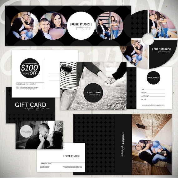 Photography marketing set templates pure by lauriecosgrovedesign for Photography marketing templates