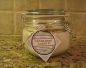 16-Ounce Beeswax Candle in Lidded Jar. Perfect for Allergy Sufferers. Makes a Great Emergency Candle.
