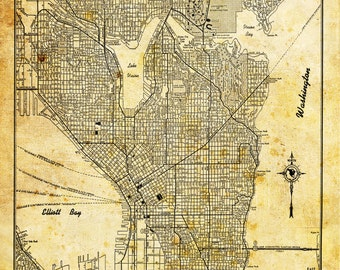 Omaha map street map vintage poster print sepia grunge seattle map city street map vintage sepia grunge print poster gumiabroncs Image collections
