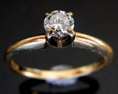 Reserved For Cierra  Vintage Estate .31ct Diamond Solitaire 14K Gold Engagement