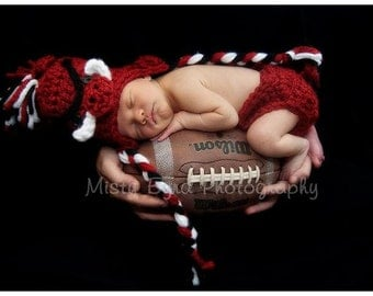 Razorback Hat and Diaper cover Set- Size Newborn- 24 months available - Made to order