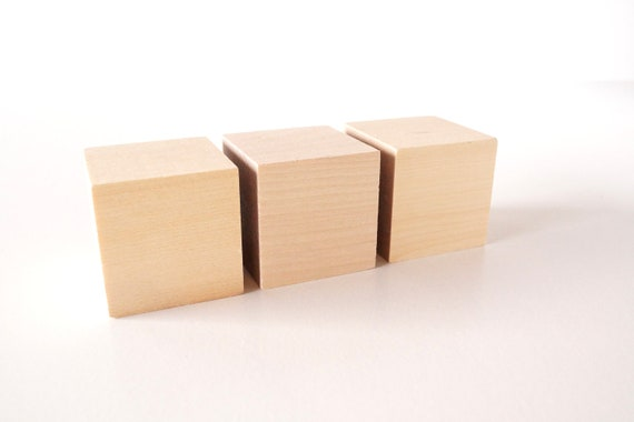 blank do it yourself wood blocks cubes 2 inch cube set of. Black Bedroom Furniture Sets. Home Design Ideas