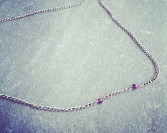 genuine blood red garnet vampire bite necklace
