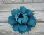 Large Paper Peony Centerpiece Paper Flower Teal