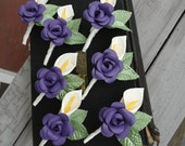 Calla Lily Rose Paper Flower Boutonniere Wedding Boutonniere
