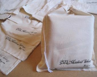 Gift Bag Wrap Cotton Drawstring Rustic