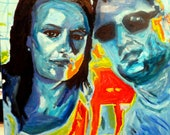 SOLD Portrait of Beautiful , Hip Website Designers   30x40  Original Oil Painting by Marlene Kurland  RESERVED/SOLD