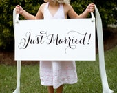 Classic Just Married Getaway Sign - waterproof