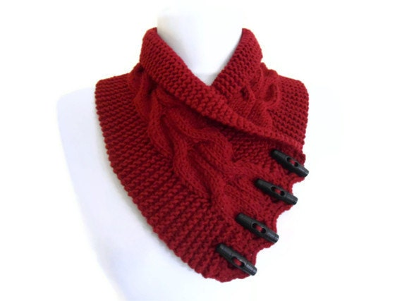 christmas gift, Burgundy, neckwarmers,Men,Women,unisex, autumn,  hand-knitted,fashion,unique gift
