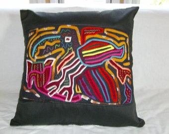 18 x 18 Black embellished pillow cover 218