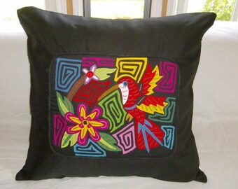 23 x 23 Black embellished pillow cover 202