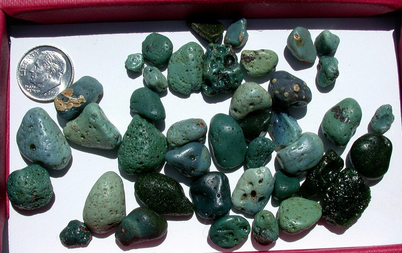 Blast Furnace Slag Glass : Antique sea glass beach slag pebbles by