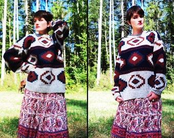 vintage SOUTHWESTERN Woolrich Wool Sweater, Men's Large