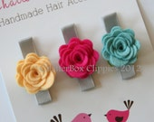 Baby Hair Clips Petite Rosebuds in Brights Baby Alligator Clips Girls Hair Clips