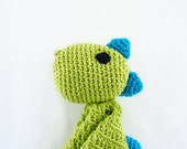 Dino Lovey / Security Blanket - PDF Crochet Pattern - Instant Download - Blankie Baby Blanket