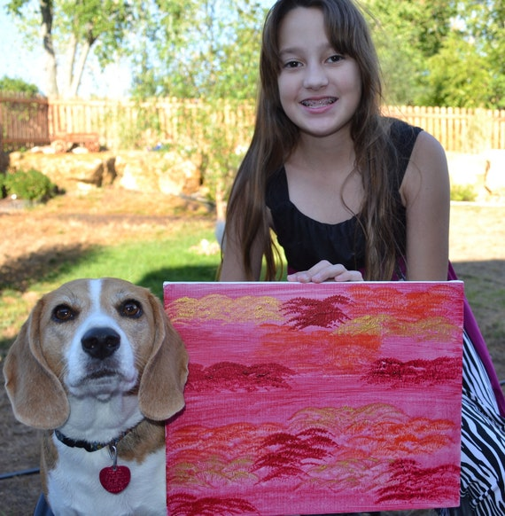 "Aid for Abby - Autism Awareness - Original Painting - 11"" x 14"" Painting"