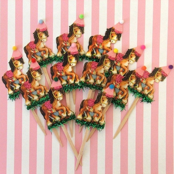 Pretty Ponies/Horse Cupcake Toppers