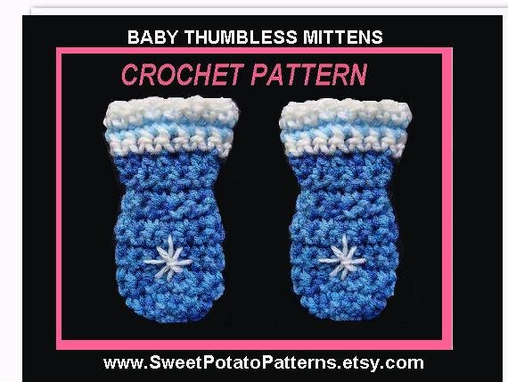 Free Crochet Pattern For Thumbless Mittens : Instant Download PDF Crochet Pattern Baby by ...