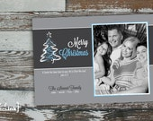Merry Christmas Digital Holiday Card  - Customizable with scripture & photo (Luke 2:11)