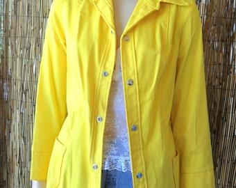 Vintage 70's  RARE DITTOS- Groovy Yellow Denim Jacket Sz Small- 5