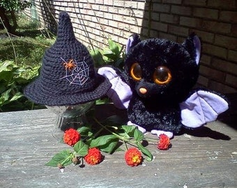 Spider Web Witch Hat- MADE to ORDER- Photo prop, costume, Halloween
