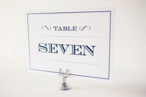 Black and White Art Deco Table Number Cards Printable