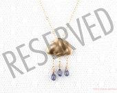 """Reserved for Laura Garner  """"Purple Rain"""" 14kt gold filled"""