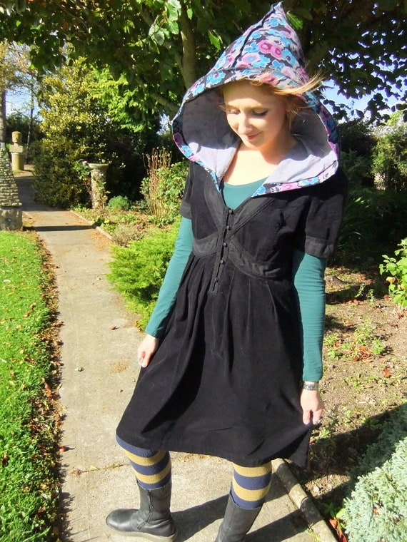 SALE - Corduroy pixie dress - Large - One of a Kind - Ready To Ship