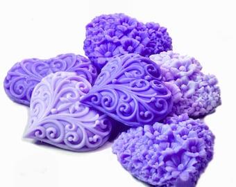 Purple Victorian Hearts Decorative Soap Gift Set