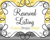 Reserved Listing for flybygrace77